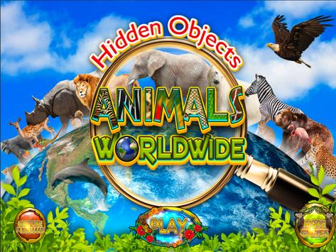 Hidden Objects Animal World - Puzzle Object Games poster