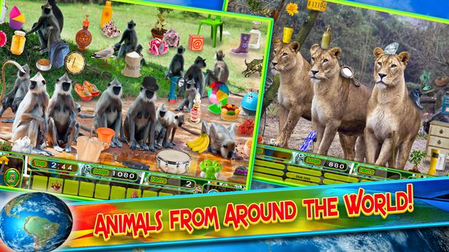 Hidden Objects Animal World - Puzzle Object Games screenshot 11