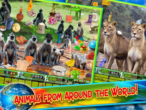 Hidden Objects Animal World - Puzzle Object Games screenshot 1