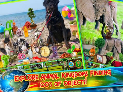 Hidden Objects Animal World - Puzzle Object Games screenshot 2