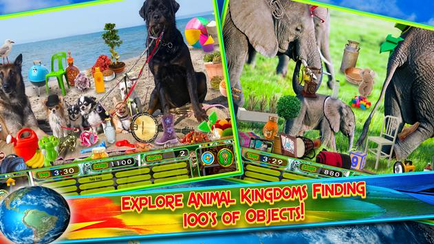 Hidden Objects Animal World - Puzzle Object Games screenshot 7