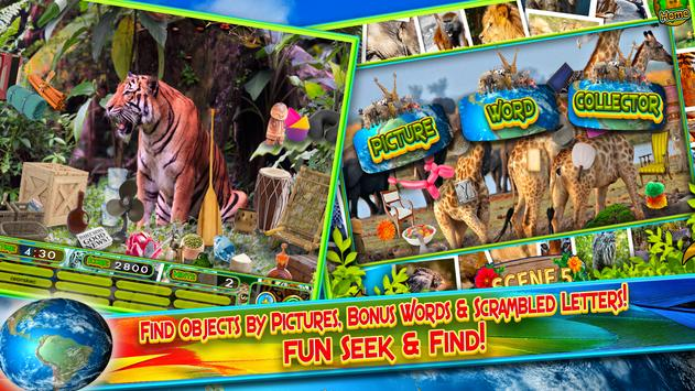Hidden Objects Animal World - Puzzle Object Games screenshot 9