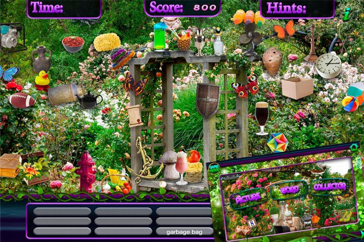 Hidden Objects Secret Garden Puzzle Object Game Apk Download Free Casual Game For Android