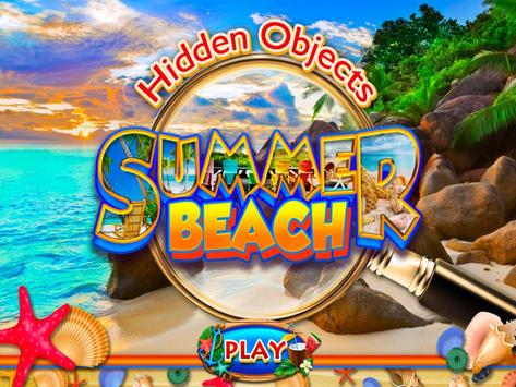 Hidden Objects Summer Beach - Hawaii Object Game poster