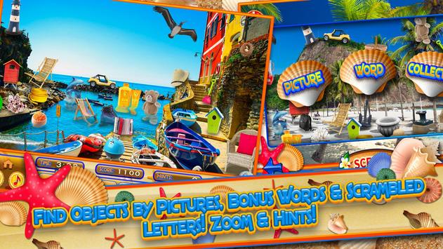 Hidden Objects Summer Beach - Hawaii Object Game screenshot 14
