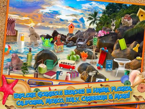 Hidden Objects Summer Beach - Hawaii Object Game screenshot 1