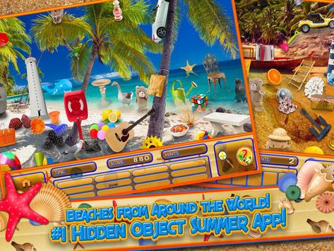 Hidden Objects Summer Beach - Hawaii Object Game screenshot 2