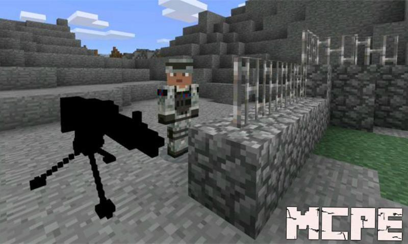 Automatic Machine Gun Mod For Minecraft Pe For Android Apk Download