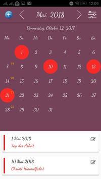 Deutsch Kalender screenshot 1