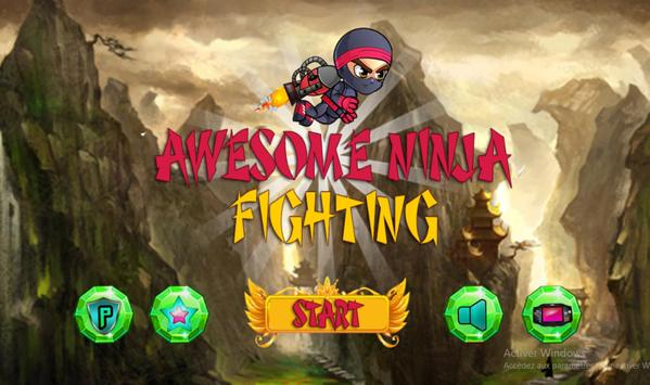 Awesome Ninja Fighting poster