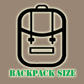 Backpack Size icon