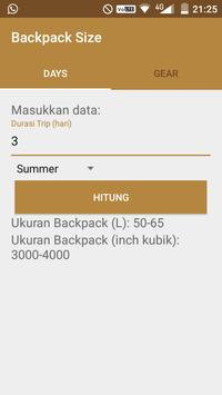 Backpack Size apk screenshot