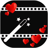 love video maker with music and effects icon