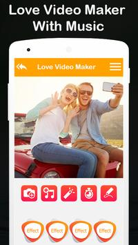 love video maker with music and effects poster