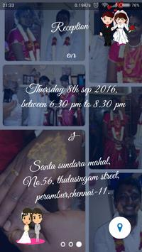 Madhan Weds Deepika Invitation apk screenshot