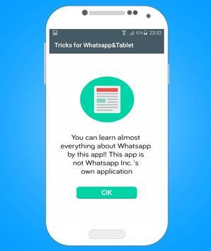 Tricks for Whatsapp : Tablet poster