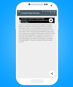Tricks for Whatsapp : Tablet screenshot 1