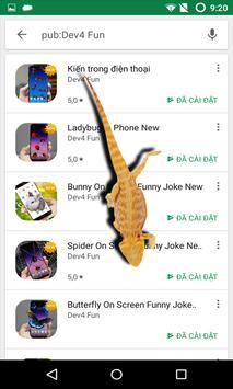 Lizard On Screen Funny Joke New screenshot 3