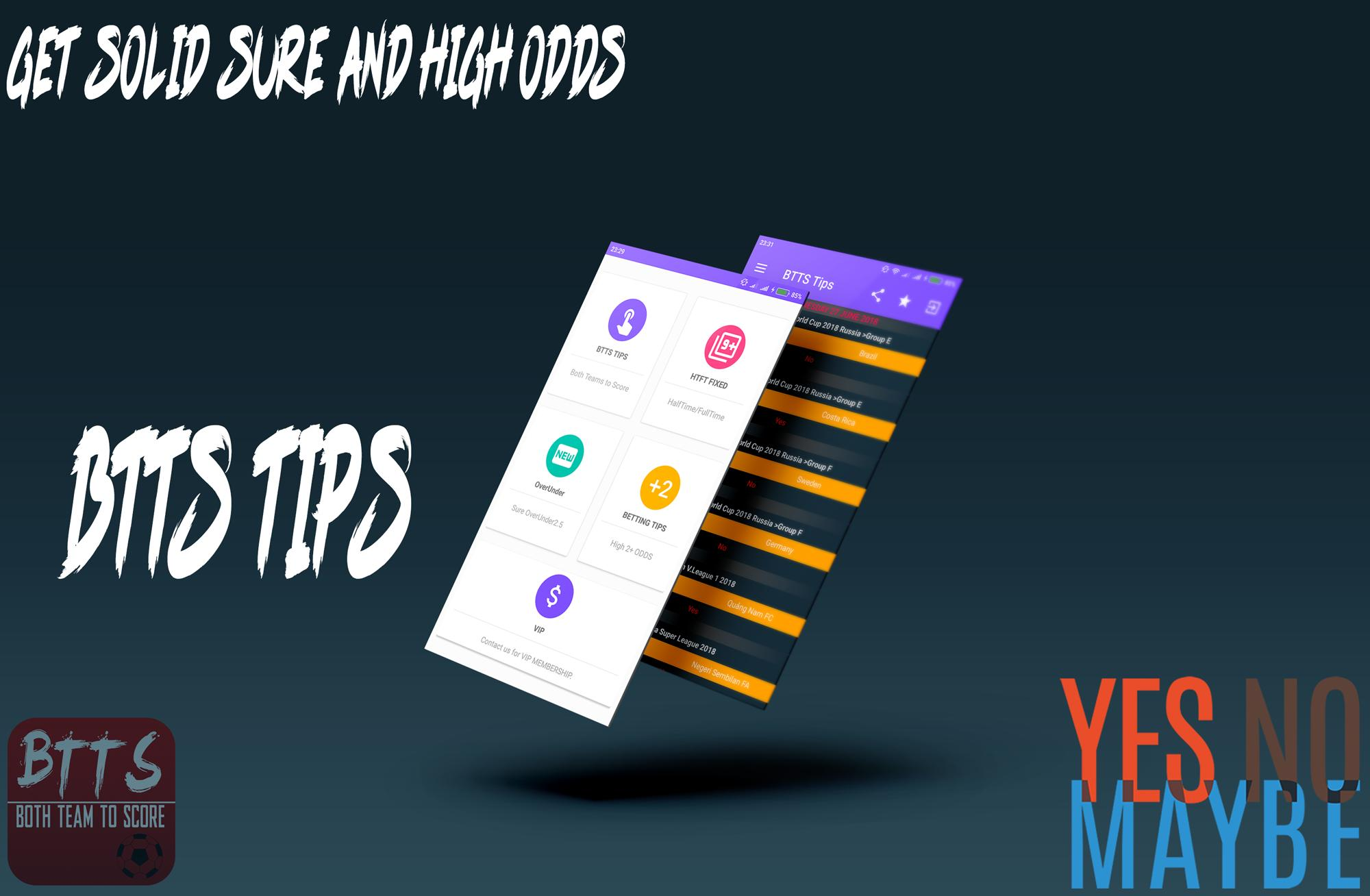 BTTS TIPS for Android - APK Download