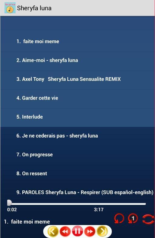 QUELQUE LUNA PART SHERYFA MP3 TÉLÉCHARGER