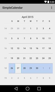 Simple Calendar apk screenshot