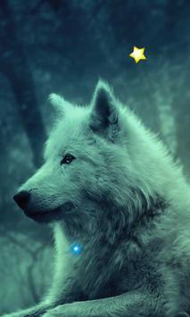 Wolves Night HD live wallpaper apk screenshot