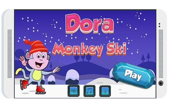 Dora monkey ski adventures poster