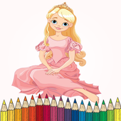 Coloring pages for girls icon