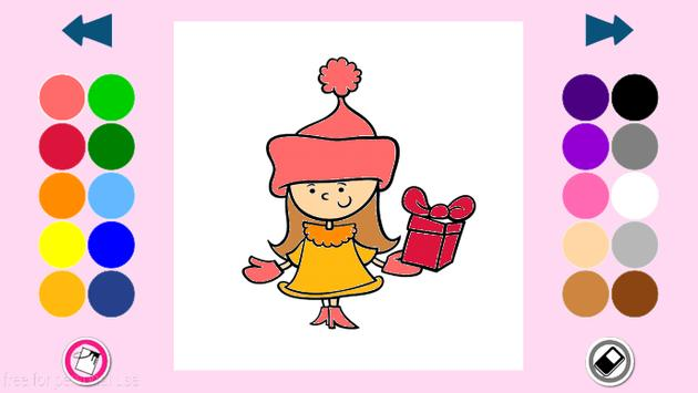Coloring pages for girls apk screenshot
