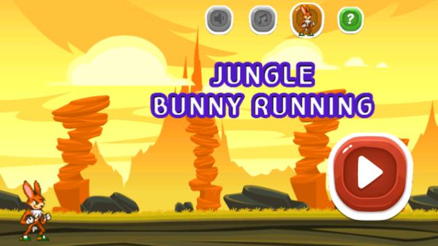 Jungle Bunny Running Free poster