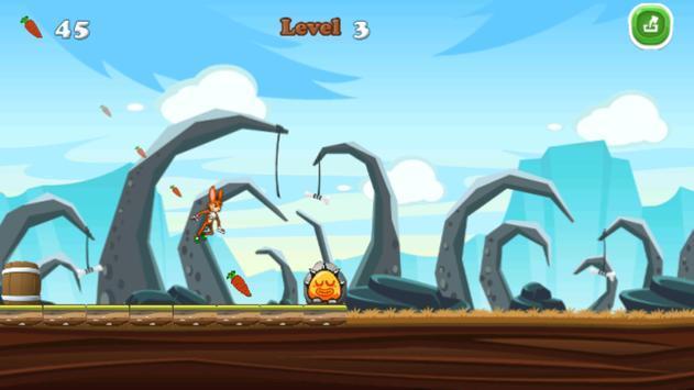 Jungle Bunny Running Free screenshot 1