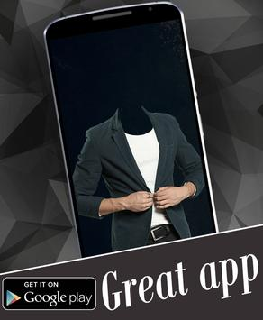 Stylish Man Suit Photo Montage poster