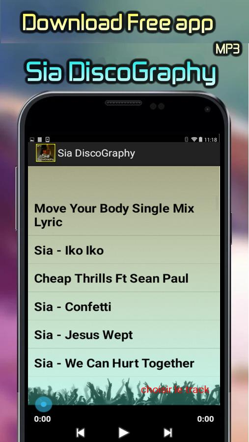 Sia DiscoGraphy All Songs for Android - APK Download