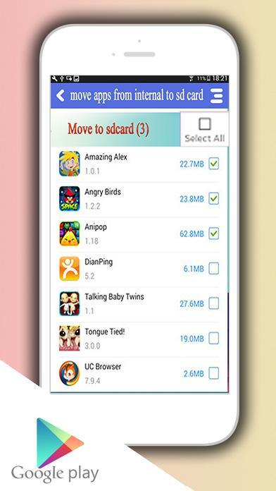 Apps Auf Sd Karte Verschieben Android.Speicher Apps Auf Die Sd Karte Verschieben Für Android Apk