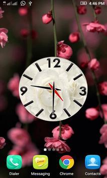 White Rose Clock Wallpaper screenshot 5