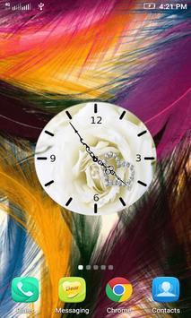 White Rose Clock Wallpaper screenshot 2
