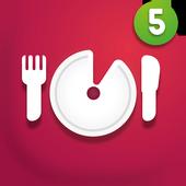 Five minutes recipes icon