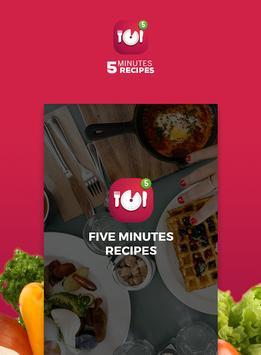Five minutes recipes poster