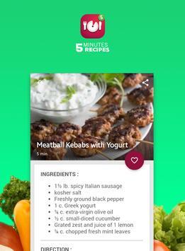 Five minutes recipes screenshot 2