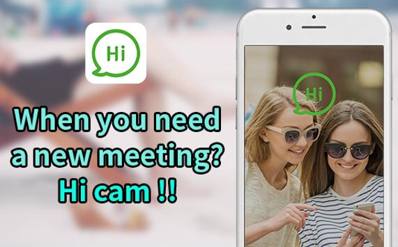random video chat, video chat - hi cam poster