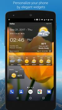 Weather & Clock Widget for Android poster