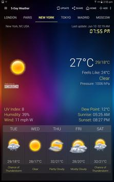 Weather & Clock Widget for Android apk screenshot