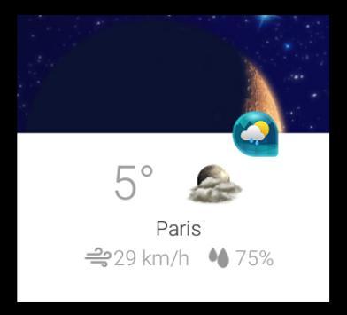 Weather & Clock Widget for Android apk screenshot