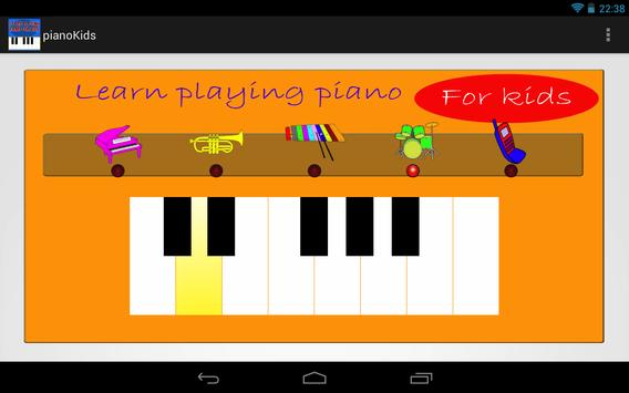 Piano for kids. Learning. poster