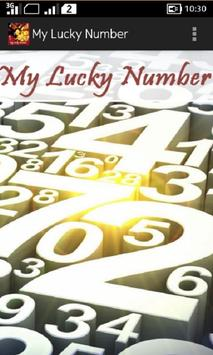 My Lucky Number poster