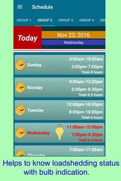 Easy Loadshedding Schedule poster