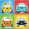 Çocuklar hafıza oyunu: araba simgesi