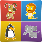 Animals memory games for kids icon