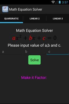 Math Equation Solver screenshot 2