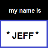 My name is jeff icon